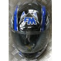 FM Radikal Black Blue Helmet *LAST ONE*
