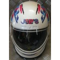 JEBS Multi White Blue Full Face Helmet *LAST ONE*