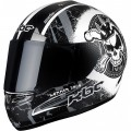 KBC Tarmac Hammer Head Motorcycle Helmet - Black and White