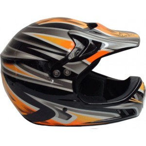 M Robert Motocross Helmet - Black / Orange / Yellow