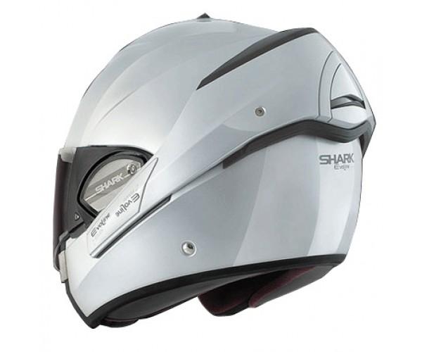 shark evoline flip front motorcycle helmet silver. Black Bedroom Furniture Sets. Home Design Ideas