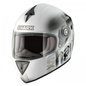 Shark RSI Spot Motorcycle Helmet - White