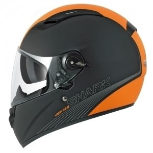 Shark Vision R Becool Matt Black & Orange Stripe