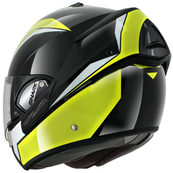 shark evoline 3 century flip front motorcycle helmet high vis. Black Bedroom Furniture Sets. Home Design Ideas