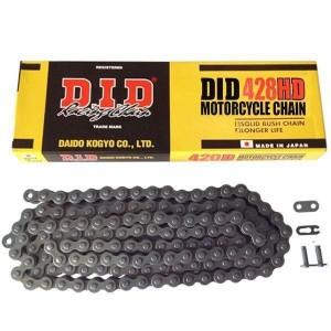 DID 428 HD Heavy Duty Drive Chain 140 Links Black