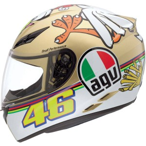 AGV K-3 Rossi 'The Chicken' Gold/ White/ Orange