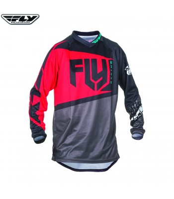 Fly Racing 2017 F-16 Motocross Jersey Red Black