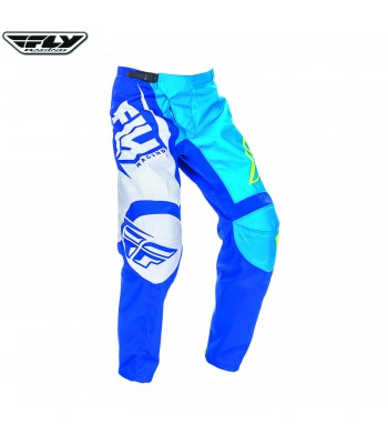 Fly Racing 2017 F-16 Motocross Race Pants Blue Hi Visibility