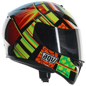 AGV K-3 SV Rossi Elements Yellow/ Green/ Red