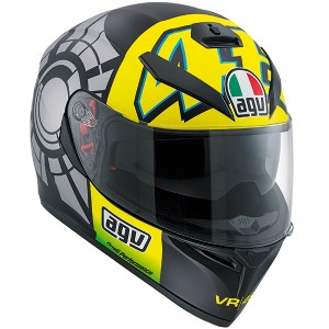 AGV K-3 SV Rossi 46 Winter Test Helmet White/ Grey/ Black