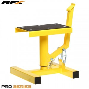 Race FX Pro Single Pillar Lift up Bike Stand Yellow