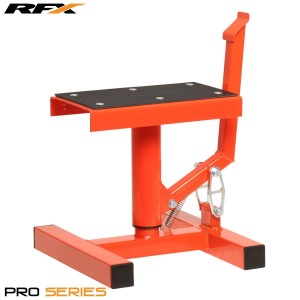 Race FX Pro Single Pillar Lift up Bike Stand Orange