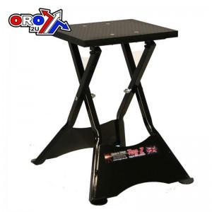 Tag-Z Steel Folding Paddock Stand for MX Bikes Black