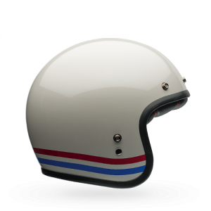 Bell Custom 500 Open Face White/Red/Blue Helmet