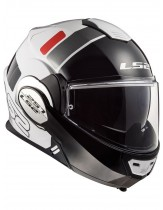 LS2 Valiant Prox Modular Helmet White Red