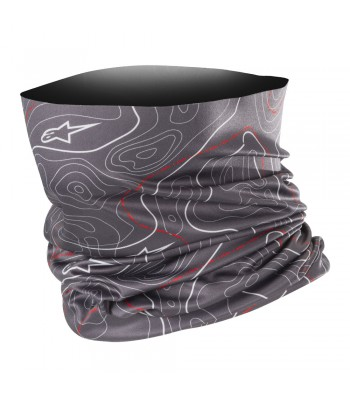 Alpinestars Countours Neck Tube Black Grey Red