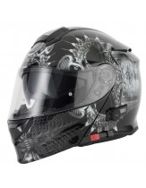Vcan V271 Flip Front Helmet with Blinc Bluetooth Drogon