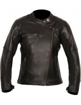 Weise Chicago Ladies Leather Jacket Black