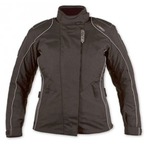 A-Pro Eva Ladies Textile Motorcycle Jacket - Black