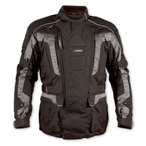 A-Pro Startech Textile Motorcycle Jacket - Silver