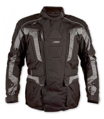 A-Pro Startech Textile Motorcycle Jacket - Silver