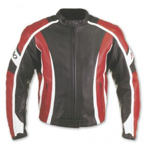 A-Pro SteelBlade Leather Motorcycle Jacket - Red