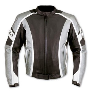 A-Pro SteelBlade Leather Motorcycle Jacket - Silver