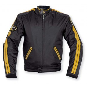 A-Pro Silverstone Textile Motorcycle Jacket - Black / Orange