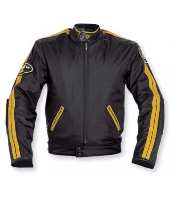 A-Pro Silverstone Textile Motorcycle Jacket - Black / Orange