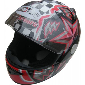 Arashi Tornado Motorcycle Helmet - Black / Red
