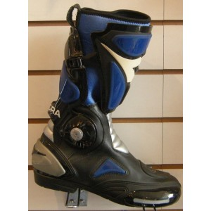 Diadora 2 Fit Blue Motorcycle Boots