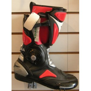 Diadora 2 Fit Red Motorcycle Boots