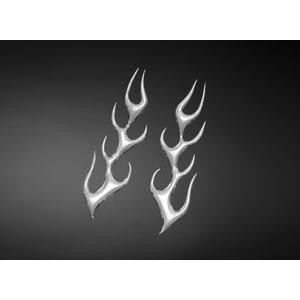 3D Flame Decal Small (Pair)