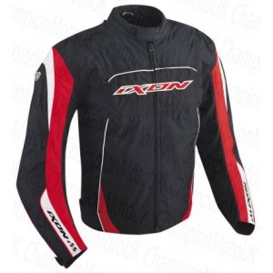 Ixon Diablo Fiction Motorcycle Jacket - Black / Red