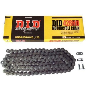 DID 428 HD Heavy Duty Drive Chain 140 Links Black